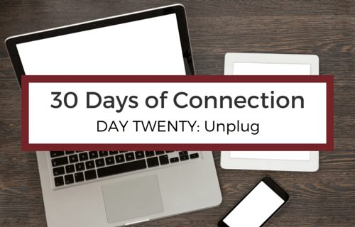 Day 20: Unplug